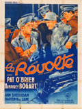 "Movie Posters:Crime, San Quentin (Warner Brothers, R-mid-1940s). First Post-WarRe-Release French Grande (47"" X 63"").. ..."