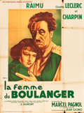 """Movie Posters:Comedy, The Baker's Wife (Les Films Marcel Pagnol, 1938). French Grande (46"""" X 62""""). French Title: La Femme du Boulanger.. ..."""