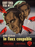 "Movie Posters:Hitchcock, The Wrong Man (Warner Brothers, 1957). French Grande (44.5"" X 61"").Hitchcock.. ..."