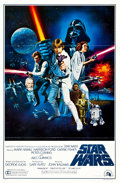 "Movie Posters:Science Fiction, Star Wars (20th Century Fox, 1977). International One Sheet (27"" X41"") Flat Folded Style C.. ..."
