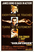 "Movie Posters:James Bond, Goldfinger (United Artists, 1964). One Sheet (27"" X 41"") GlossyFinish Style.. ..."