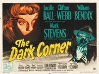 "The Dark Corner (20th Century Fox, 1946). British Quad (30"" X 40""). Film Noir"