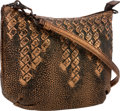 "Luxury Accessories:Bags, Bottega Veneta Bronze Metallic Leather Shoulder Bag. Very Good to Excellent Condition. 9.5"" Width x 6"" Height x 3"" Dep..."