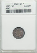 Early Half Dimes, 1795 H10C V-4, LM-10, R.3 -- Bent -- ANACS. Genuine....
