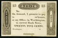 Obsoletes By State:Ohio, Worthington, OH- (Ezra Griswold) 25¢ 18__ Remainder. ...