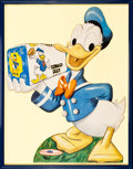 "Movie Posters:Animated, Donald Duck Bread (Walt Disney Productions, Early 1950s). FramedStandee (Standee Measurement: 30"" X 38""; Frame Measurement:..."