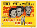 "Movie Posters:Drama, A Place in the Sun (Paramount, 1951). British Quad (30"" X 40"")....."