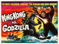 "Movie Posters:Science Fiction, King Kong vs. Godzilla (Universal International, 1962). British Quad (30"" X 40"").. ..."
