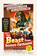 "Movie Posters:Science Fiction, The Beast from 20,000 Fathoms (Warner Brothers, 1953). One Sheet(27.5"" X 41"").. ..."