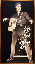 "Movie Posters:Elvis Presley, Loving You (Paramount, 1957). Framed Standee (Standee Measurement:36"" X 71""; Frame Measurement: 42"" X 75"").. ..."
