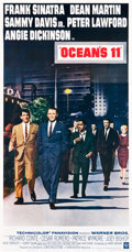 "Movie Posters:Crime, Ocean's 11 (Warner Brothers, 1960). Three Sheet (41.25"" X 78.75"")....."