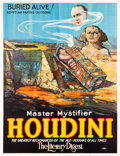 "Movie Posters:Miscellaneous, Houdini ""Buried Alive!"" (Otis Litho, 1926). Eight Sheet (81"" X106"").. ..."