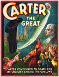 "Movie Posters:Miscellaneous, Carter the Great (1926). Eight Sheet (106"" X 80"") ""Cheating theGallows."". ..."