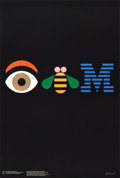 "Movie Posters:Miscellaneous, IBM Advertising Poster by Paul Rand (IBM, 1981). Full-Bleed Poster(24"" X 36"") ""THINK."". ..."
