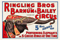 "Movie Posters:Miscellaneous, Circus Poster (Ringling Brothers and Barnum & Bailey, 1932).Poster (28.25 X 42"").. ..."