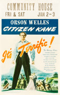 "Movie Posters:Drama, Citizen Kane (RKO, 1941). Window Card (14"" X 22"").. ..."