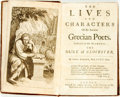 Books:Biography & Memoir, Basil Kennet. The Lives and Characters Of the Ancient GrecianPoets. London: Abel Swall, 1697. Krown & Spellman re...