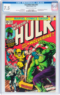 Bronze Age (1970-1979):Superhero, The Incredible Hulk #181 (Marvel, 1974) CGC VF- 7.5 Cream tooff-white pages....