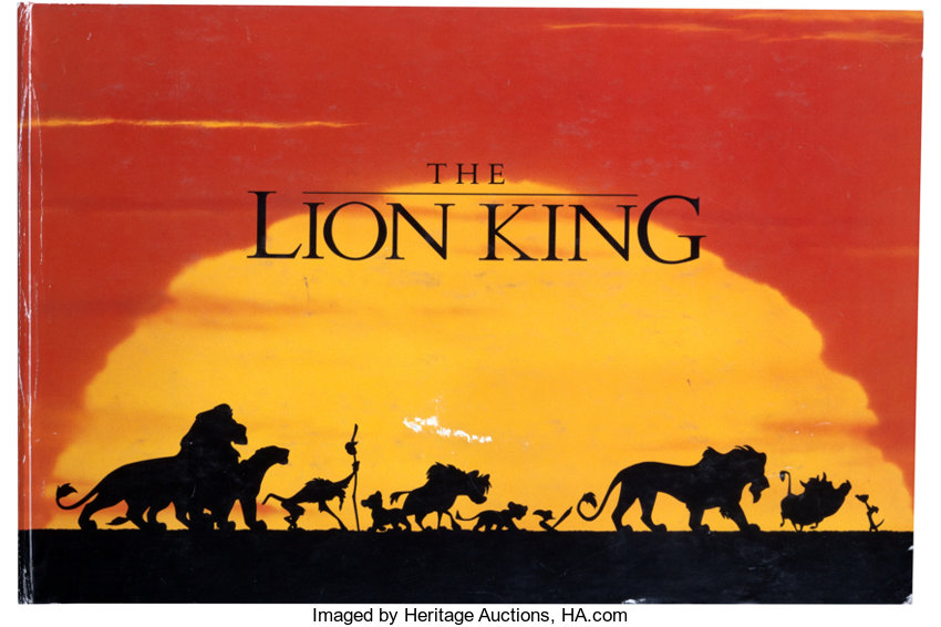 The Lion King Licensing Style Guide Walt Disney 1994 Lot 95325 Heritage Auctions