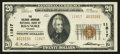 National Bank Notes:Virginia, Roanoke, VA - $20 1929 Ty. 2 The Colonial-American NB Ch. # 11817....