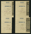 Miscellaneous:Other, Jefferson, PA- Postal Note Type V Two Consecutively Serial NumberedPairs of Attached Receipts- $3.92 May 22, 1894/$4.20 May... (Total:2 items)