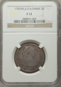 Colombia, Colombia: Charles IV 2 Reales 1792 NR-JJ F12 NGC,...