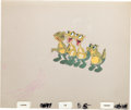 Animation Art:Production Cel, The Land Before Time Ducky's Family Production Cel Setup(Sullivan Bluth/Amblin, 1988)....