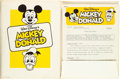 Animation Art:Limited Edition Cel, Walt Disney's Mickey and Donald Press Folder Group (Walt Disney, 1981)....