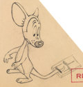 Animation Art:Production Drawing, From Hand to Mouse Production Drawing (Warner Brothers,1944)....