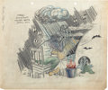 Animation Art:Production Drawing, Roger Armstrong Studio Gag Sketch (Walter Lantz, 1944)....