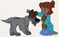 Animation Art:Production Cel, Oliver and Company Production Cel (Walt Disney, 1988)....