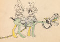 Animation Art:Production Drawing, Two-Gun Mickey Mickey and Minnie Mouse Animation Drawing(Disney, 1934).. ...