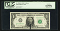 Error Notes:Ink Smears, Fr. 1906-G $1 1969C Federal Reserve Note. PCGS Gem New 66PPQ.. ...