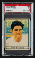 Baseball Cards:Singles (1940-1949), 1941 Play Ball Dom DiMaggio #63 PSA EX 5....