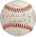 Autographs:Baseballs, 1998 New York Yankees Team Signed Baseball. Official 1998 WorldSeries baseball has been signed by twenty-nine members of t...