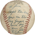 Autographs:Baseballs, Dizzy Dean Single Signed Baseball. A folk hero in thedepression-ravaged America, Dizzy dean embodied the spirit of hardwo...