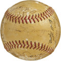 Autographs:Baseballs, 1951 New York Yankee Team Signed Baseball. The 1951 New YorkYankees won their 18th pennant, and went on to win the World S...