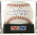 "Autographs:Baseballs, Tony Gwynn ""HOF 07"" Single Signed Baseball, PSA Mint 9. One of thenewest inductees into Cooperstown has applied this pristi..."