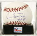 "Autographs:Baseballs, Don Sutton ""HOF 98"" Single Signed Baseball, PSA Mint+ 9.5.Long-time power pitcher Don Sutton here announces his HOFinducti..."