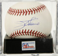 Autographs:Baseballs, Jim Thome Single Signed Baseball, PSA NM-MT+ 8.5. The imposingslugger Jim Thome provides the OML orb we see here with a top...