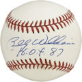 "Autographs:Baseballs, Billy Williams ""H.O.F. 87"" Single Signed Baseball. Sweet Swingin'Billy Williams has adorned the provided ONL (Coleman) orb..."