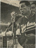 Autographs:Photos, Joe DiMaggio Signed Photograph. Sportswriters dubbed him the nextBabe Ruth and Ty Cobb rolled into one. as he made his maj...