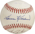 Autographs:Baseballs, Baseball All-Stars Multi-Signed Baseball. A total of five formerAll-Stars of Major League Baseball have checked in on the ...