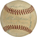 Autographs:Baseballs, 1958 AL All-Star Team Signed Baseball. The winning side from the1958 All-Star Game is amply represented here with this col...