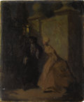 Fine Art - Painting, European:Antique  (Pre 1900), FRENCH SCHOOL (Nineteenth Century). Midnight Rendezvous. Oilon artists' board. 12 x 9-3/4 inches (30.5 x 24.8 cm). Sign...