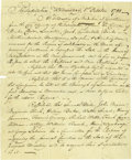 Autographs:Statesmen, [Constitution] 1788 Manuscript Notes from a Philadelphia CommitteeMeeting....