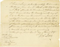 "Autographs:Statesmen, Declaration of Independence Signer Francis Lewis DS, ""FraLewis"", one page with verso docketing, 7.5"" x 6"", New YorkCit..."