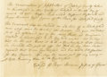 "Autographs:Statesmen, Roger Sherman Autograph Document Signed ""Roger Sherman Justiceof Peace,"" one page, 7"" x 5"" inlaid, 10.5"" x 13.5"" overal..."