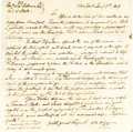 "Autographs:Artists, John Trumbull Historic Autograph Letter Signed ""J.T.,"" one page, 8"" x 8"". New York, January 5, 1819. To Secretary of Sta... (Total: 1 Item)"