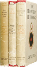 Books:First Editions, J. R. R. Tolkien. The Lord of the Rings, including:...(Total: 3 Items)